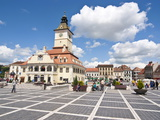 Brasov Council Square, Brasov, Transylvania, Romania, Europe Photographic Print by Michael Runkel