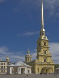 The Peter and Paul Cathedral on the Fortress Island, River Neva, St. Petersburg, Russia, Europe Photographic Print by James Emmerson