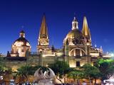 Cathedral in Plaza De Armas, Guadalajara, Mexico, North America Photographic Print by Christian Kober