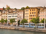 Buildings on the Limmat River, Old Town, Zurich, Switzerland, Europe Photographic Print by Michael DeFreitas