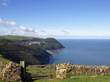 Lynmouth From Countisbury, Exmoor, Somerset, England, United Kingdom, Europe Photographic Print by Jeremy Lightfoot