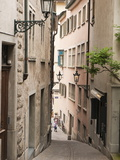 Narrow Street in Old Town, Zurich, Switzerland, Europe Photographic Print by Michael DeFreitas