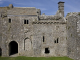 Inside Weobley Castle, Gower, West Glamorgan, Wales, United Kingdom, Europe Photographic Print by Julian Pottage