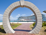 Moon Gate at Cruise Terminal in the Royal Naval Dockyard, Bermuda, Central America Photographic Print by Michael DeFreitas