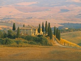 Sunset Near San Quirico D'Orcia, Val D'Orcia, Siena Province, Tuscany, Italy, Europe Photographic Print by Sergio Pitamitz