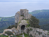 Crusader Castle, Kantara, Turkish Part of Cyprus, Cyprus, Europe Impressão fotográfica por Michael Runkel