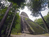 Tourists Climbing a Pyramid in the Forest, Mayan Ruins, Tikal, Guatemala Photographic Print by Christian Kober