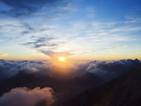 Sunset, View From Pania Della Croce, 1858M, Apuan Alps, Tuscany, Italy, Europe Photographic Print by Christian Kober