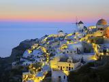 Gavin Hellier - Village of Oia, Santorini (Thira), Cyclades Islands, Aegean Sea, Greek Islands, Greece, Europe Fotografická reprodukce
