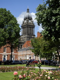 City Hall Viewed From the Historic Georgian Park Square, Leeds, West Yorkshire, England, Uk Photographic Print by Peter Richardson