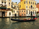 Gondola on the Grand Canal, Venice, Veneto, Italy, Europe Photographic Print by Peter Richardson