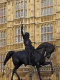 Richard the Lionheart Statue, Houses of Parliament, Westminster, London, England, Uk Photographic Print by Jeremy Lightfoot