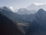 View of Mount Everest, From Gokyo Ri, 5483M, Gokyo, Solu Khumbu Everest Region, Himalayas Photographic Print by Christian Kober