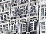 Galerias (Glass-Fronted Balconies) on Marina Avenue, La Coruna City, Galicia, Spain, Europe Photographic Print by Richard Cummins