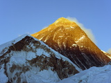 Sunset on Mount Everest, 8850M, Solu Khumbu Everest Region, Sagarmatha National Park, Himalayas Photographic Print by Christian Kober