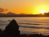 Sunset Over the Bay at Famara, Lanzarote's Finest Surf Beach, Canary Islands Photographic Print by Robert Francis