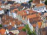 Aerial View of Bruges, Old Town, Bruges, Flanders, Belgium, Europe Photographic Print by Christian Kober