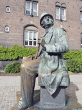 Hans Christian Andersen Statue, Copenhagen, Denmark, Scandinavia, Europe Photographic Print by Christian Kober