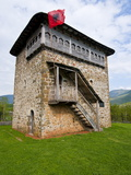Fortified Tower Near Bayram Curri, Albania, Europe Photographic Print by Michael Runkel