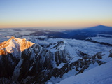 Sunrise, Shadow of Mont Blanc, Mont Blanc Range, Chamonix, French Alps, France, Europe Photographic Print by Christian Kober