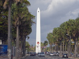 Obelisk, Santo Domingo, Dominican Republic, West Indies, Caribbean, Central America Photographic Print by Christian Kober
