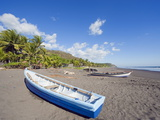Fishing Boats on the Beach at Playa Sihuapilapa, Pacific Coast, El Salvador, Central America Photographic Print by Christian Kober