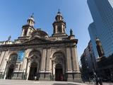 Metropolitan Cathedral, Plaza De Armas, Santiago, Chile, South America Photographic Print by Sergio Pitamitz