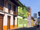 Colourful Houses, Bogota, Colombia, South America Photographic Print by Christian Kober