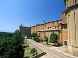 Monte Oliveto Maggiore Abbey, Siena Province, Tuscany, Italy, Europe Photographic Print by Sergio Pitamitz