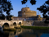 Castello Sant Angelo and River Tiber, Rome, Lazio, Italy, Europe Photographic Print by Charles Bowman