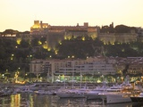Monte Carlo Harbour and Prince's Palace at Sunset, Monaco, Cote D'Azur, Mediterranean, Europe Photographic Print by Sergio Pitamitz