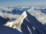 Aiguille De Bionnassay, 4052M, From Mont Blanc, Chamonix, French Alps, France, Europe Photographic Print by Christian Kober