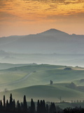 Sunrise Over Val D'Orcia, Near San Quirico D'Orcia, Siena Region, Tuscany, Italy, Europe Photographic Print by Guy Edwardes