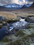 Glen Brittle and the Cuillin Mountains on a November Afternoon, Isle of Skye, Scotland, Uk Lámina fotográfica por Jon Gibbs