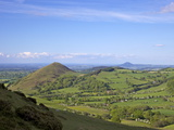 Lawley From Slopes of Caer Caradoc in Spring Evening Light, Church Stretton Hills, Shropshire Photographic Print by Peter Barritt
