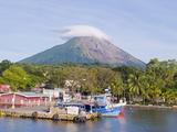 Christian Kober - Harbour Below Volcan Concepcion, 1610M, Ometepe Island, Lake Nicaragua, Nicaragua, Central America Fotografická reprodukce