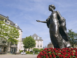 Statue of the Duchess of Luxembourg, Old Town, Luxembourg City, Grand Duchy of Luxembourg, Europe Photographic Print by Christian Kober