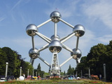 1958 World Fair, Atomium Model of An Iron Molecule, Brussels, Belgium, Europe Photographic Print by Christian Kober