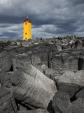 Selvogsviti Lighthouse, Reykjanes, Iceland, Polar Regions Photographic Print by Guy Edwardes