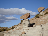 Balanced Rocks in Plaza Blanca Badlands (The Sierra Negra Badlands), New Mexico, USA Photographic Print by James Hager