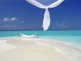 Hammock Hanging in Shallow Clear Water, the Maldives, Indian Ocean, Asia Photographic Print by Sakis Papadopoulos
