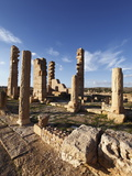 Pillars of the Church of St. Servus at the Roman Ruins of Sbeitla, Tunisia, North Africa, Africa Stampa fotografica di Dallas & John Heaton