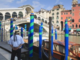 Rialto Bridge and Gondolier, Grand Canal, Venice, UNESCO World Heritage Site, Veneto, Italy, Europe Photographic Print by Amanda Hall