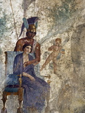 Fresco of Venus Seduced By Mars With Cupid and Maid, House of Punished Love From Pompeii Photographic Print