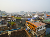 View Over the Wharf of Dhaka, Bangladesh, Asia Photographic Print by Michael Runkel