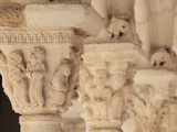 Capitals in the Cloister of Saint Sauveur Cathedral, Aix En Provence, Bouches Du Rhone, France Photographic Print