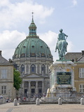 Frederik&#39;s Church From the Inner Courtyard of the Amalienborg Palace, Copenhagen, Denmark Photographic Print by James Emmerson
