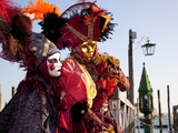 Costumes and Masks During Venice Carnival, Venice, Veneto, Italy, Europe Photographic Print by Carlo Morucchio