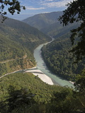 The Tista River Flowing Through Sikkim, India, Asia Photographic Print by Annie Owen