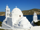 Agia Irini Church Near the Harbour, Ormos, Ios Island, Cyclades, Greek Islands, Greece, Europe Photographic Print